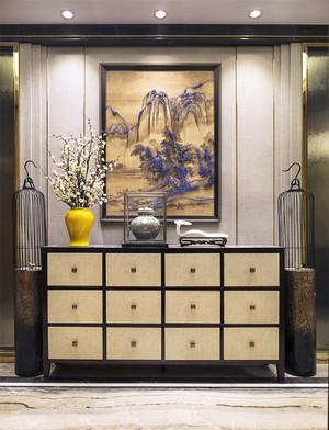 138平米新中式风格客厅玄关设计效果图