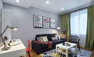 宜家风格小户型室内客厅照片墙装修效果图