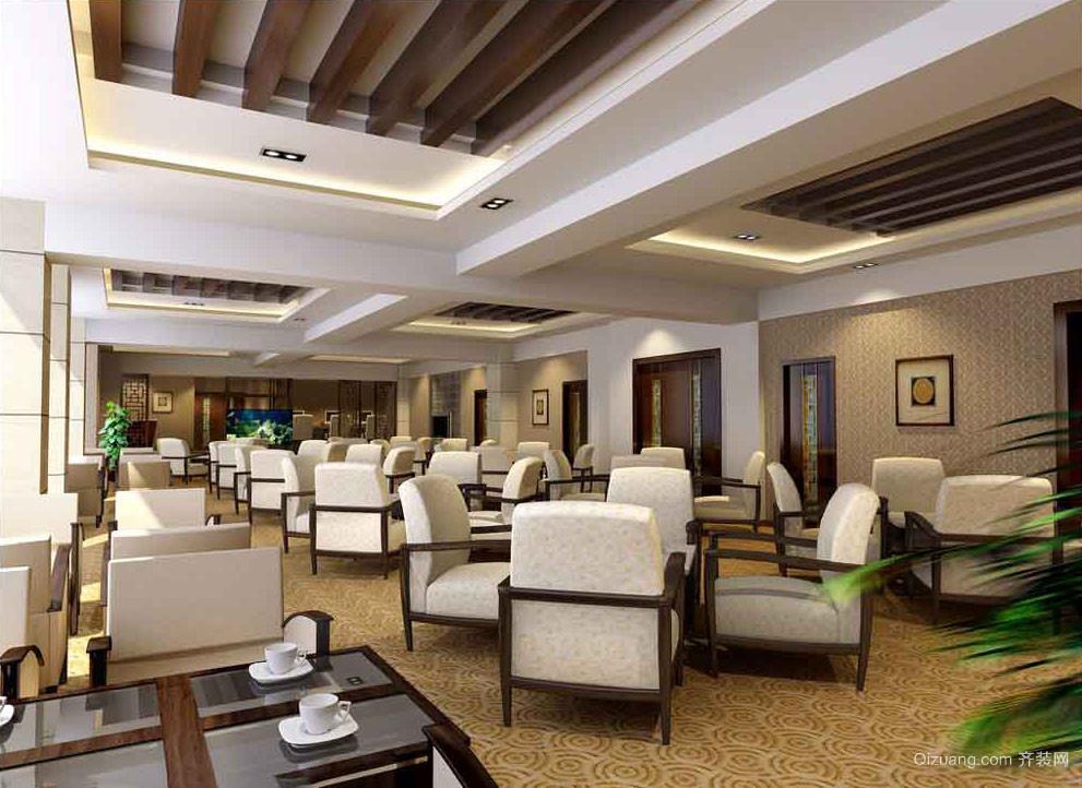 80平米现代风格西餐厅设计装修效果图