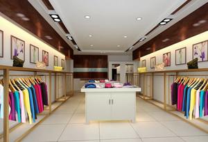 70平米现代简约风格服装店设计装修效果图