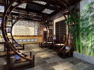 中式风格雅韵茶楼装修效果图