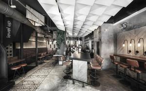 280平米现代工业风格酒吧装修效果图