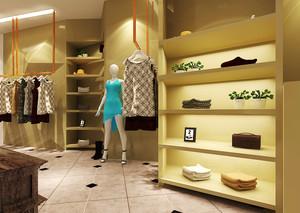220平米现代简约风格服装店装修效果图