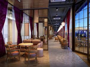 155平米现代风格咖啡厅装修效果图鉴赏