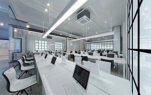210平米现代简约风格办公室装修效果图赏析