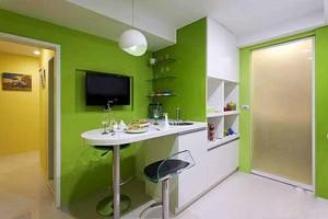 都市简约风格小户型客厅吧台设计装修效果图