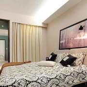 北欧风格自然轻松卧室背景墙装修效果图
