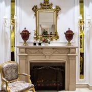 欧式风格大户型客厅壁炉装修效果图赏析