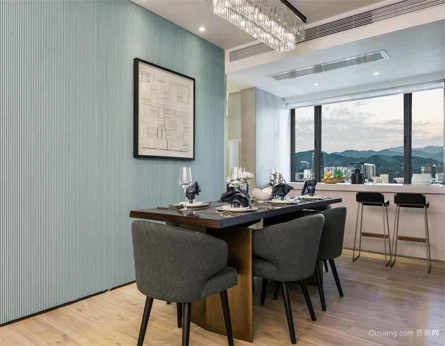 现代简约美式风格两居室餐厅装修效果图