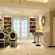 70平米欧式风格餐厅酒柜设计效果图赏析