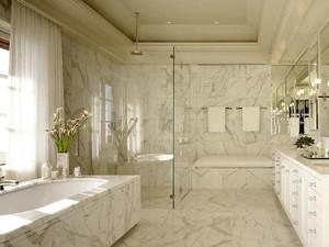 现代风格大户型室内卫生间瓷砖装修效果图