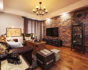 90平米复古美式风格室内装修效果图赏析