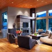 后现代风格别墅室内客厅装修设计效果图