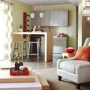 现代简约风格小户型开放式客厅吧台设计装修效果图
