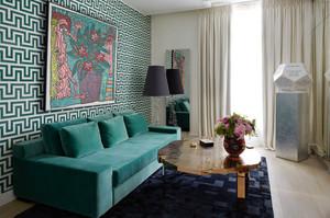 北欧风格小户型客厅沙发背景墙装修效果图