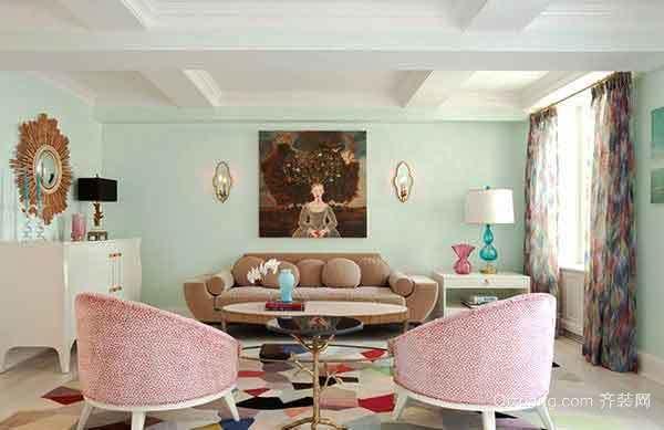 都市清新风格客厅沙发装修效果图大全