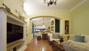 欧式田园风格三室两厅室内装修效果图