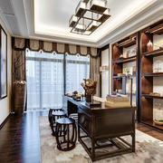 14平米中式风格书房装修效果图鉴赏