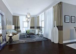 现代简约风格客厅窗帘设计装修效果图
