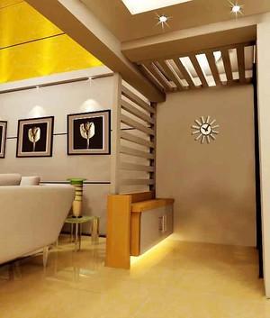 现代简约风格两居室玄关吊顶装修效果图