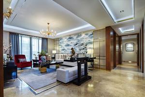 精致典雅新中式风格大户型室内装修效果图赏析