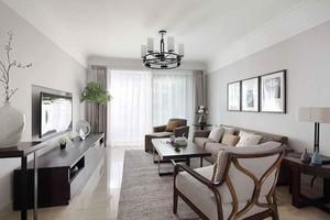 102平米新中式风格三室两厅室内装修效果图