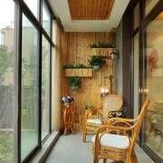 东南亚风格别墅封闭式阳台装修效果图赏析