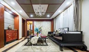 136平米中式风格三室两厅室内装修效果图鉴赏