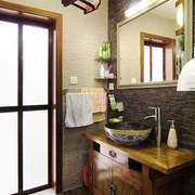 中式风格大户型室内卫生间洗脸盆装修效果图