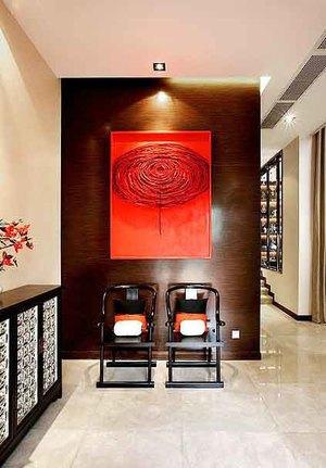 中式风格进门玄关设计装修效果图
