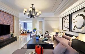 中西时尚混搭风格大户型室内装修效果图案例