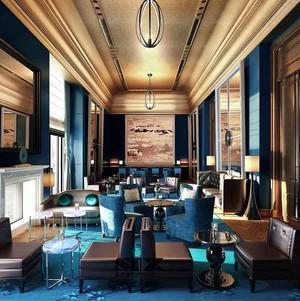 奢华欧式风格酒店餐厅设计装修效果图