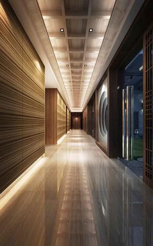 现代风格酒店过道设计装修效果图