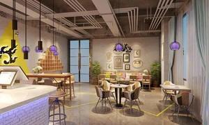 60平米宜家风格自然舒适咖啡厅装修效果图