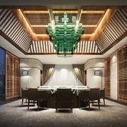 55平米中式风格会议室装修效果图赏析