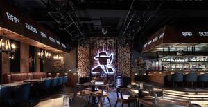 130平米美式乡村风格酒吧装修效果图