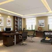 46平米中式风格老总办公室装修效果图赏析