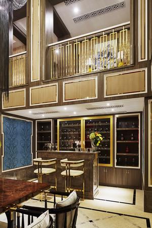 现代风格别墅客厅吧台装修效果图赏析
