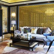 后现代风格三居室客厅沙发背景墙装修效果图