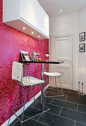 简约风格时尚餐厅家装墙纸装修效果图大全