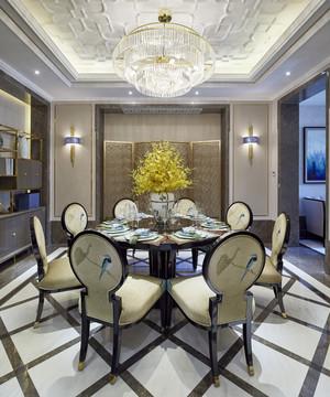 新中式风格二居室餐厅吊顶装修效果图赏析