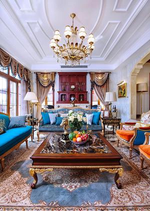法式风格两室两厅室内装修效果图鉴赏