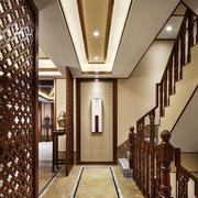新中式风格别墅过道吊顶装修效果图鉴赏