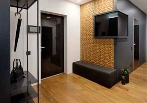 后现代风格两居室进门玄关设计装修效果图
