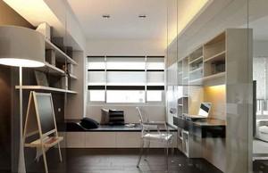 现代简约风格两居室书房装修效果图