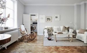 现代极简主义风格两室两厅一卫室内装修效果图