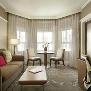 100平米现代风格客厅窗帘设计效果图鉴赏