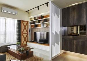 现代简约风格小户型客厅隔断装修效果图