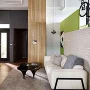 清新自然风格复式楼楼梯隔断装修效果图