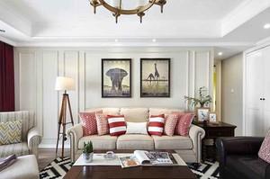 164平米现代美式风格四室两厅室内装修效果图